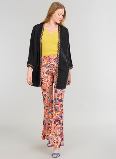 People By Fabrika Denim Kimono Siyah